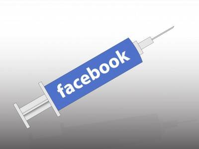 Yellow Pages Facebook syringe