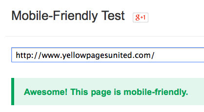 Yellow Pages United Is Mobile-Friendly