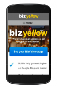 BizYellow is Mobile Friendly